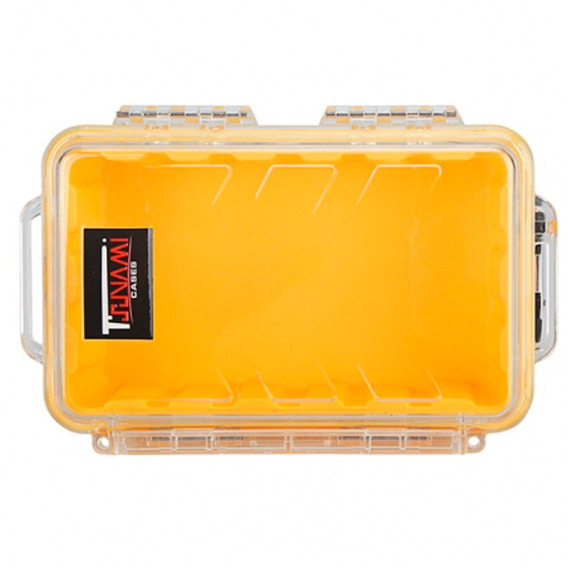 Case Impermeável P/ Celular, Camera, Etc. - Amarelo Transpar