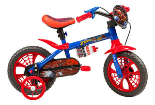 Bicicleta Infantil Caloi Spider Man Aro 12 - Azul