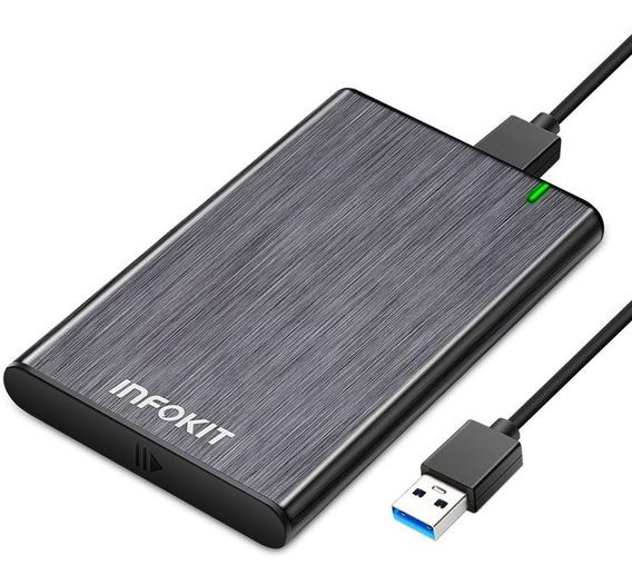 Case Para Hd Preto Usb 3.0 Original Transmissão 6gbps