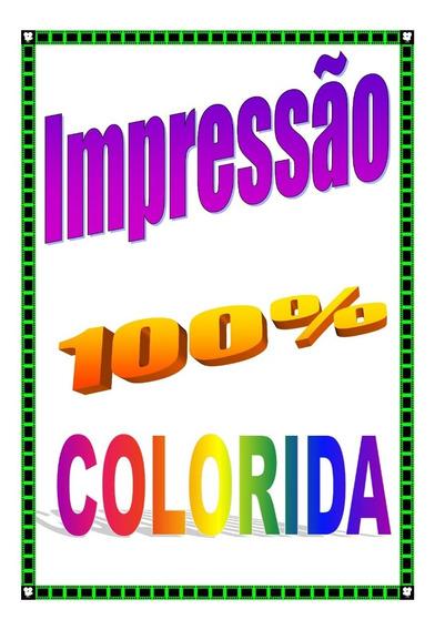 Impressão 100 Apostilas A4 # Total 24200 Pág(100%colorida)