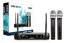 Microfone Sem Fio De Mão Duplo Vhf Vokal Vws 20 Plus Oferta