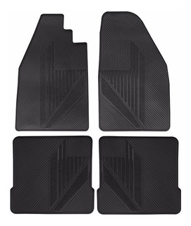 Set 4 Tapetes Originales Vw Sedan Vocho Vinil Negro Uso Rudo