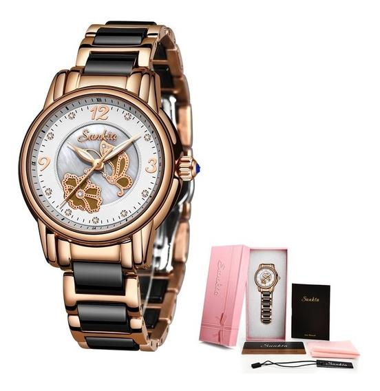 Relógio Feminino Luxuoso A Prova D