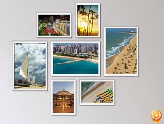 Quadros Fortaleza Ceará Praia Coqueiros Nordeste Kit Com 7