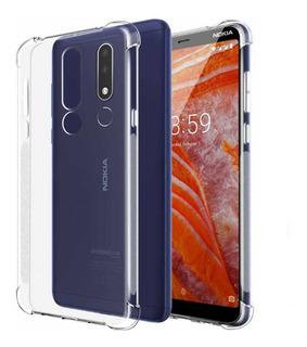 Combo Funda Tpu Transparente Vidrio Full Nokia 3.1 Plus