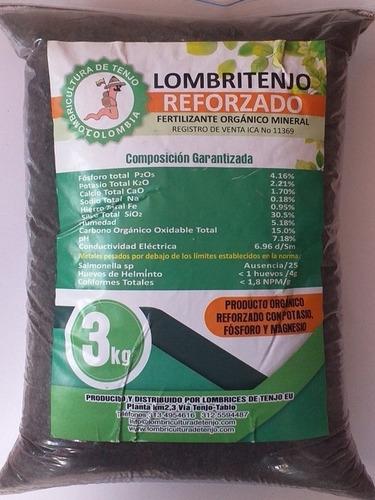 Abono Humus Reforzado Fertilizante X3 Kilos