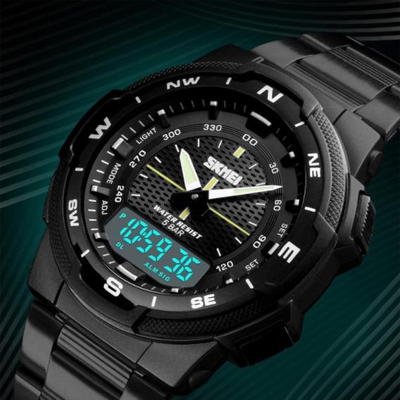 Frete Grátis Relógio Skmei 1370 Esporte Fino Cronômetro 50mt