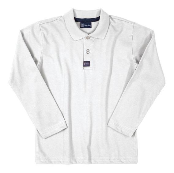 Camisa Polo Infantil Manga Longa Menino Quimby