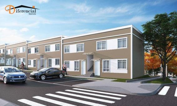 Apartamento Garden Com 2 Dormitórios À Venda, 52 M² Por R$ 135.000,00 - Jardim Campo Verde - Almirante Tamandaré/pr - Gd0193