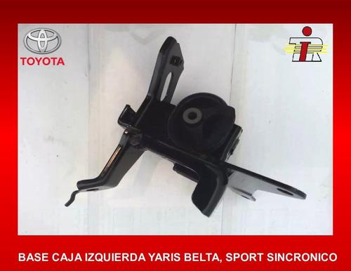 Base Caja Motor Izquierda Yaris Belta Sport Sincronico 06-up