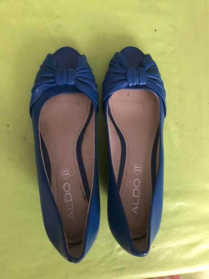 Zapatos Mujer Aldo Seminuevo Talle 37 Color Azul