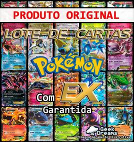 Kit Lote De 100 Cartas Pokémon + Ex + Lendário + Brinde