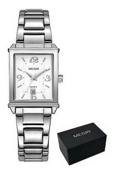 Relógio Megir De Luxo Modelo 1079 Original Pulseira Aço Inox