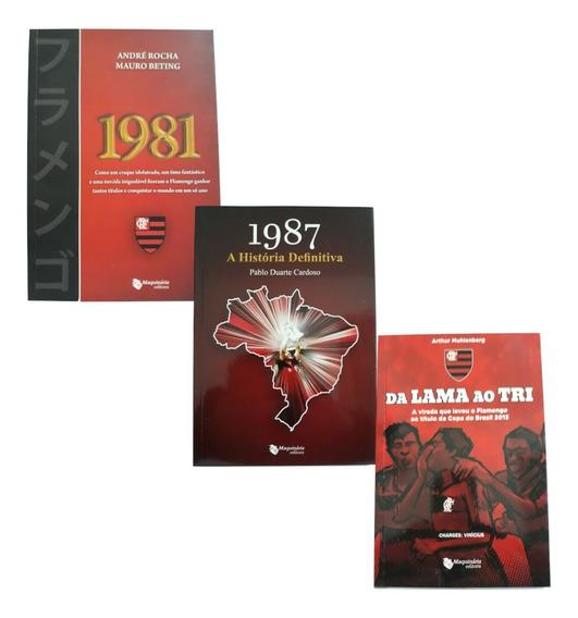Kit 3 Livros Flamengo Liberta Mundial 1981, Br 1987 Copa 13