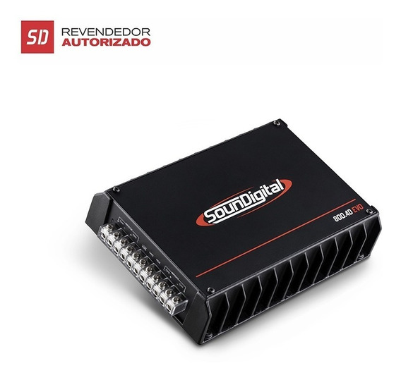 Amplificador Soundigital Sd 800w Rms 4 Canais 2 Ou 4 Ohms