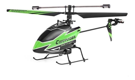 Helicóptero V911 Commander Controle 2.4ghz 4 Canais Verde