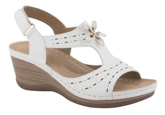 Sandalias Dama Plataforma Comodas Blanca Casual Moda Shosh