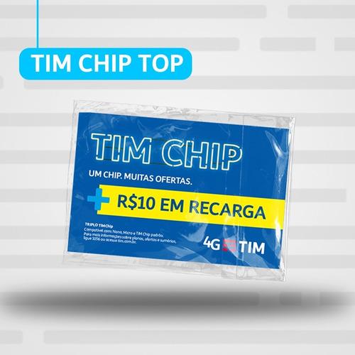 Imagem 1 de 2 de Tim Chip Top (com R$10 Em Recarga)