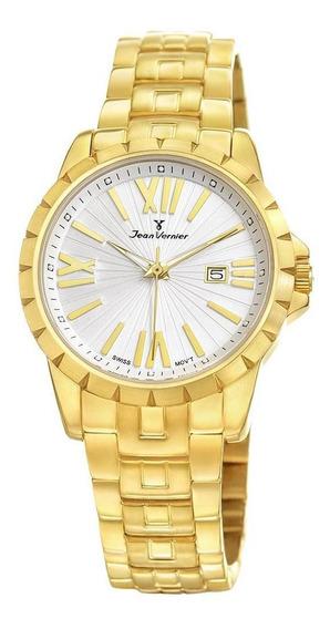 Relógio Pulso Jean Vernier Feminino Elegante Jv01332