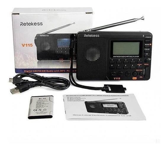 Rádio Retekess V-115 ((pronta Entrega)) Envio No Mesmo Dia