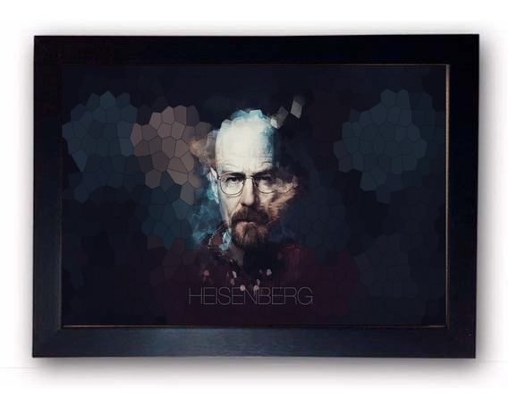 Quadro Decorativo Breaking Bad Heisenberg Com Moldura