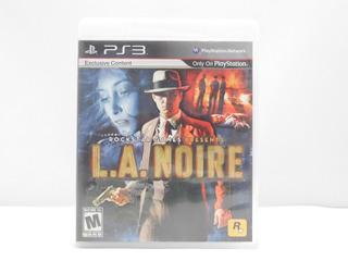 L.a. Noire - Ps3 ¡fisico-usado!