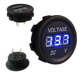 Voltímetro Digital Prova Dagua 12v 24v Dc Carro Moto Bateria