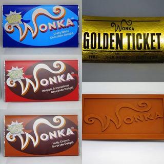 2 Barras De Chocolate Wonka Original