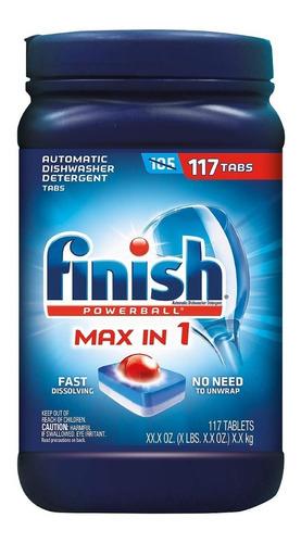 Finish Max En 1 Powerball 117 Tabs - Unidad a $1453