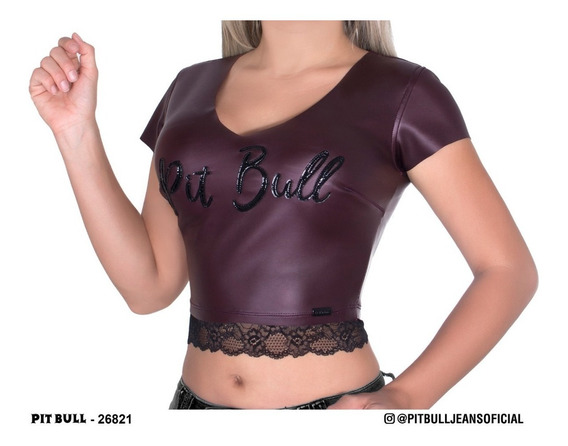 Blusa Cropped Pit Bull Jeans Cod 26821
