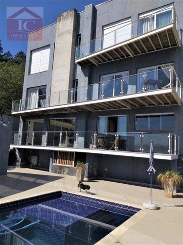 Casa Com 3 Suítes + 2 Dormitórios, À Venda, 417 M² Por R$ 1.400.000 - Colinas De São Fernando - Cotia/sp - Ca1108