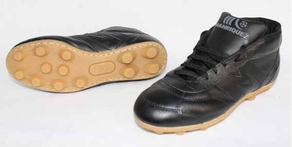 2393-zapato De Futbol Manriquez Negro Botin Vintage Tx