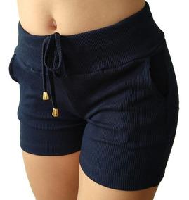 Kit 6 Shorts Feminino Ribana Canelado Tipo Moletom Atacado