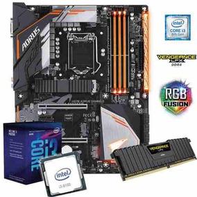 Kit Gamer H370 Aorus Gaming 3 + Cpu I3 8100 + 8gb Ddr4