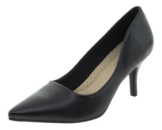 Sapato Feminino Salto Médio Preto Facinelli - 62104