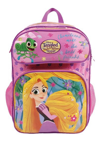 Mochila Escolar Enrolados Rapunzel C/ Estojo Dermiwil 30425