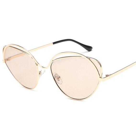 Unisex Mujeres Hombres Moda Vintage Estilo Oval Gafas De Sol