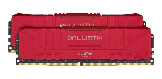 Memora Ballistix Red 16 Gb 2x8 Gb Ddr4 3200 Mhz Bl2k8g32c16u