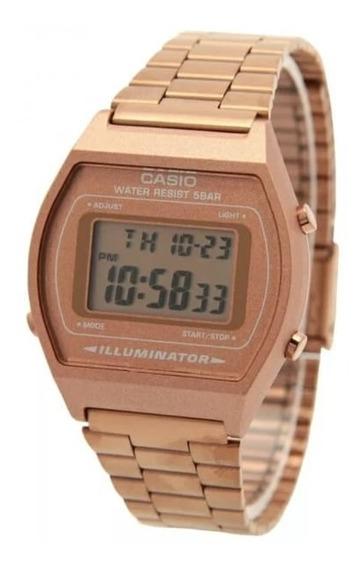 Reloj Casio Rose Rosa Mate Gold B640w Vintage