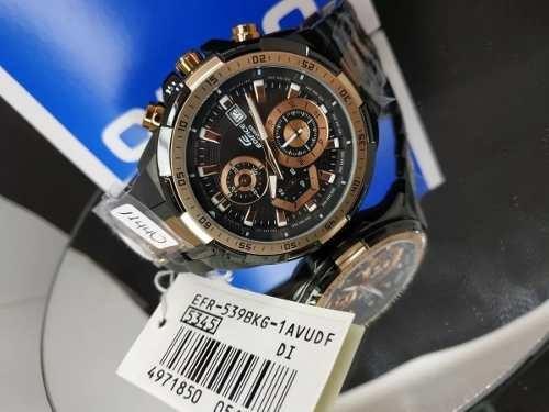 Relógio Masculino Casio Edfice Efr-539bkg-1avudf Cronógrafo