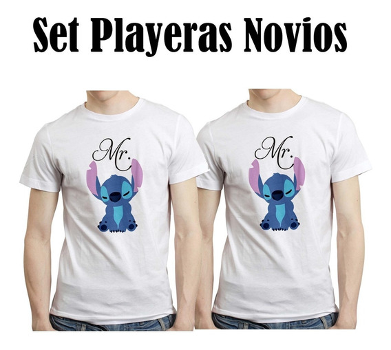 Disney Stitch Gay Lesbiana Lgbt Playera Pareja Novios Pride