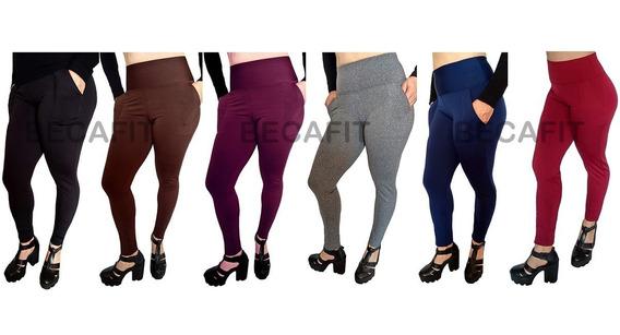 2x Calças Femininas Montaria Forrada Termica Flanelada Moda