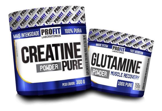 Creatina Powder 300gr + Glutamina 150gr - Profit Labs