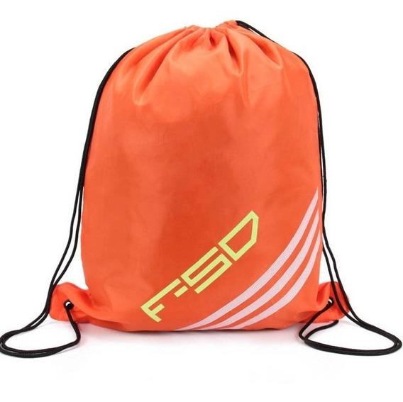 Original adidas F50 Bolso Deportivo Jaretas Espalda Orange