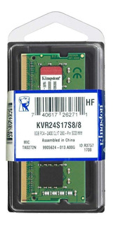 Memoria RAM 8GB 1x8GB Kingston KVR24S17S8/8