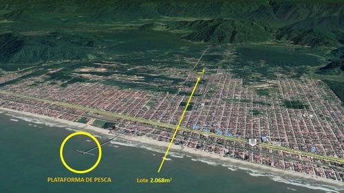 Lindo Lote De 2.068m2 Para Chácara Ou Condomínio Na Praia