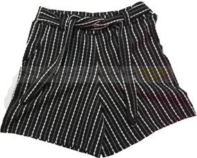 Kit 5 Shorts Feminino Listrado Com Cinto Atacado