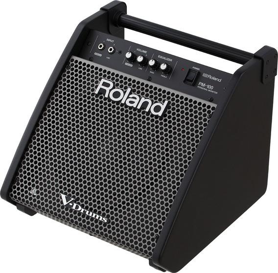 Monitor Roland Pm-100 Para Bateria Eletronica   Pm100   Nfe