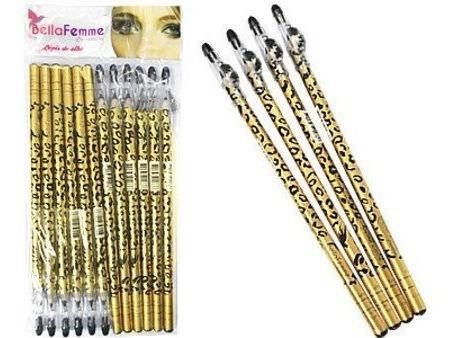 144 Lápis Bella Femme Estampa Onça C/apontador