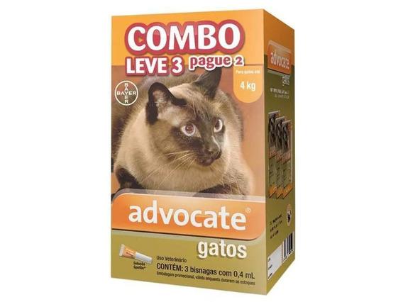 Antipulgas Bayer Advocate Combo Para Gatos Até 4kg